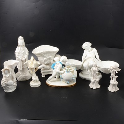 Lot 64 - Collection of white pottery and Blanc de Chine decorative items.