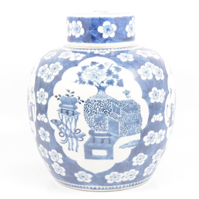 Lot 20 - Large Chinese blue and white ginger jar and cover