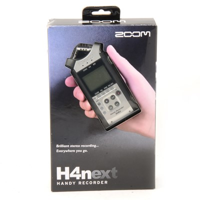 Lot 4 - Zoom H4next Handy recorder, boxed with all parts.