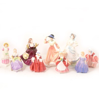 Lot 50 - Royal Doulton, Coalport and other ladies.