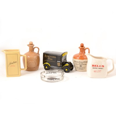 Lot 58 - Breweriana, a collection of eleven Whisky advertising jugs etc