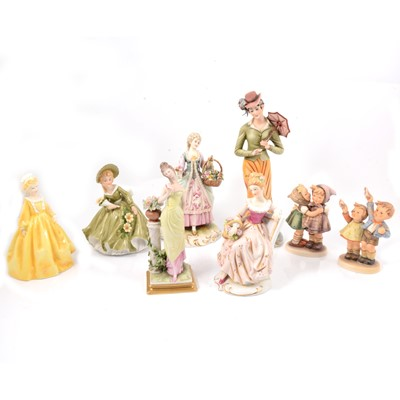 Lot 12 - Capodemonte, Spode, Hummell and other figures
