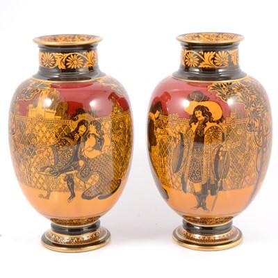 Lot 25 - Pair of Royal Doulton  Morrisian vases