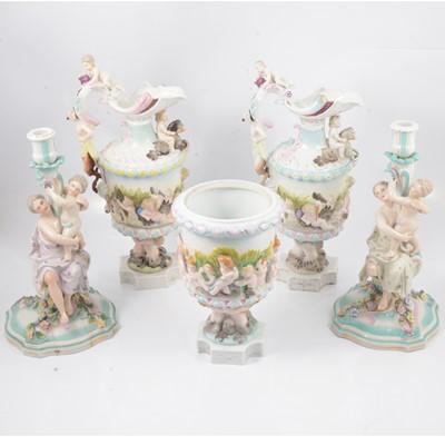 Lot 22 - Sitzendorf style porcelain