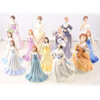 Lot 48 - Thirteen Royal Doulton lady figures