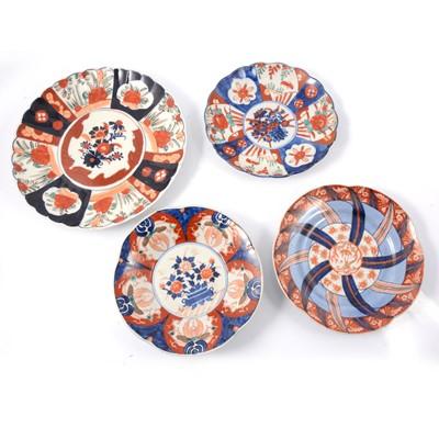 Lot 46 - Four Japanese Imari plates