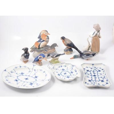 Lot 32 - Collection of Royal Copenhagen bird models, etc.