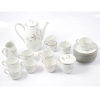 Lot 34 - Noritake coffee set, Corliss pattern