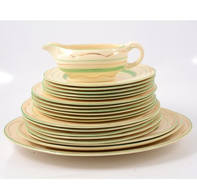 Lot 35 - Clarice Cliff Newport Pottery part dinner service
