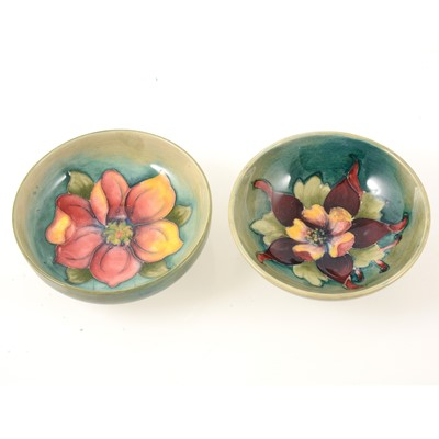 Lot 51 - Two Moorcroft shallow bowls.