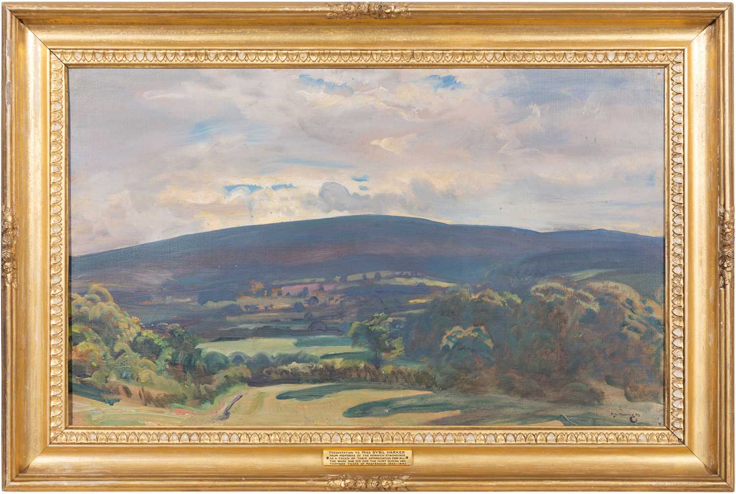 290 - Sir Alfred James Munnings - View from Selworthy.