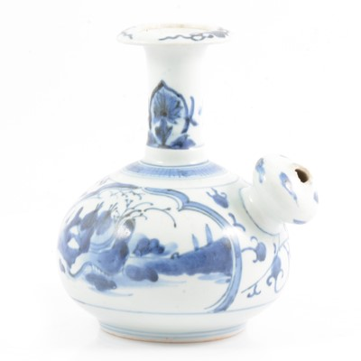 Lot 16 - Chinese porcelain blue and white ewer, Ming style