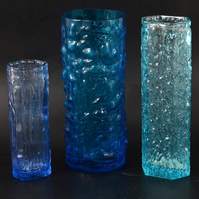 Lot 4 - Whitefriars Bark Textured glass vase, and two others in the same style.