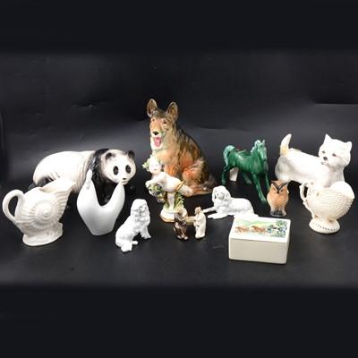 Lot 3 - Porcelain animals, figures, and other decorative ceramics.
