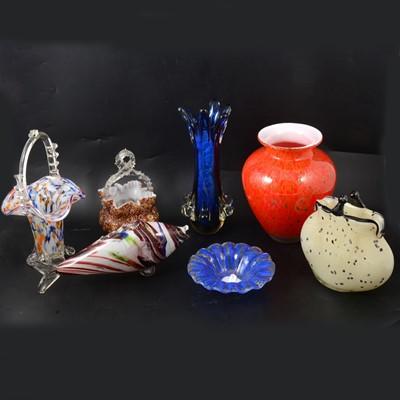 Lot 24 - Murano glassware.