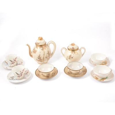 Lot 41 - Three boxes of Japanese and Chinese porcelain part tea and dinner services.