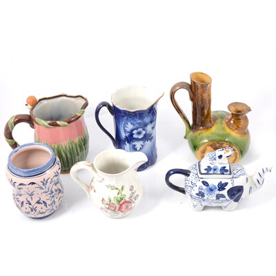 Lot 77 - Ceramic jugs, vases, and other decorative items.