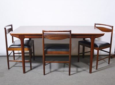 Lot 1068 - Rosewood dining room suite, designed by Tom Robertson for McIntosh of Kirkcaldy, 1970s