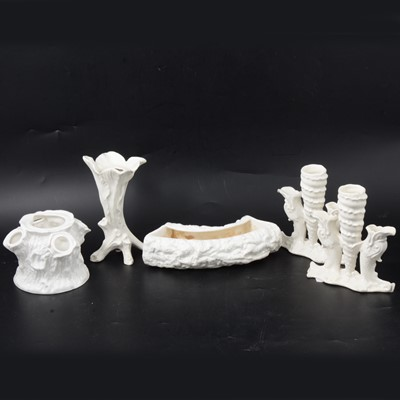 Lot 25 - Royal Crown Derby and other white-glazed ceramics.