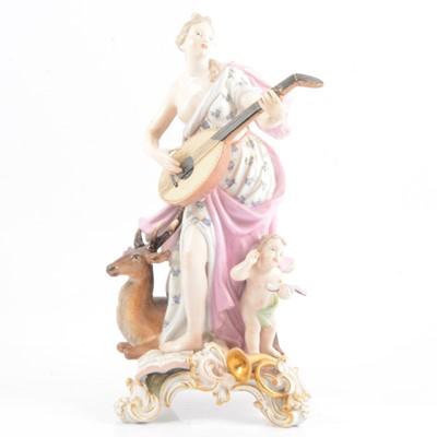 Lot 15 - Meissen porcelain allegorical group, 'Hearing' from 'The Senses'.
