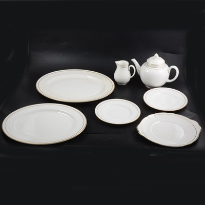 Lot 30 - Royal Worcester 'Contessa' pattern bone china part dinner and tea service.