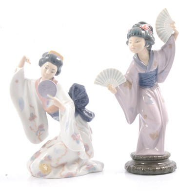 Lot 42 - Lladro figures 'Madame Butterfly' and 'Mirror Mirror'.