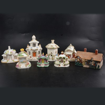 Lot 35 - Eight assorted pastille burners