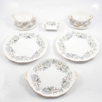 Lot 12 - Royal Albert bone china service, Silver Maple pattern.