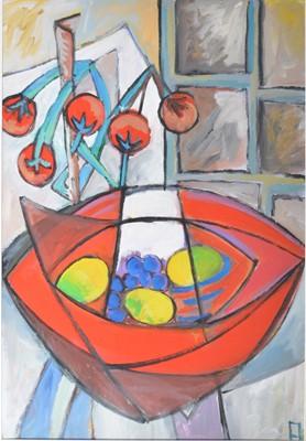 Lot 1055 - Philip Vencken - Still Life, tomatoes and lemons