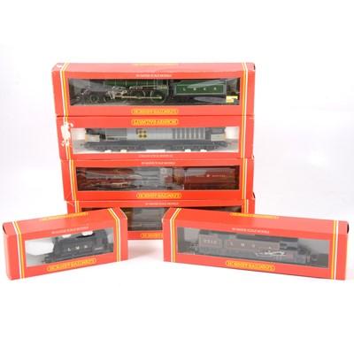 Lot 18 - Six Hornby OO gauge model railway locomotives; R082, R300, R505, R532, R332, R188.