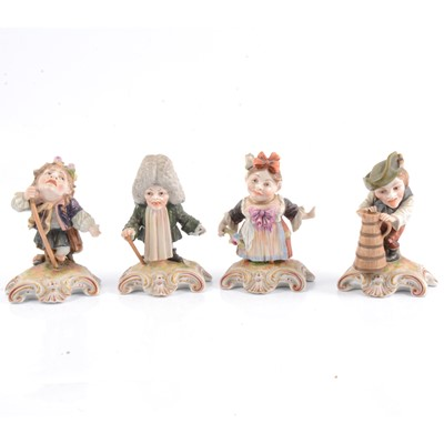Lot 31 - Four Derby figures of London street characters