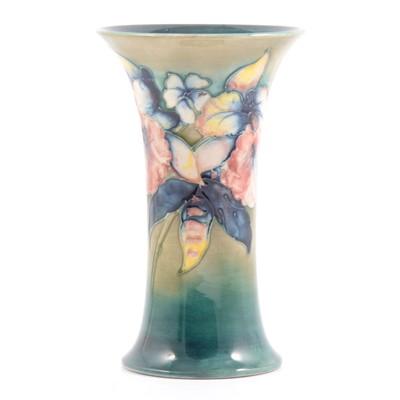 Lot 43 - Moorcroft  Pottery 'Orchid' vase.