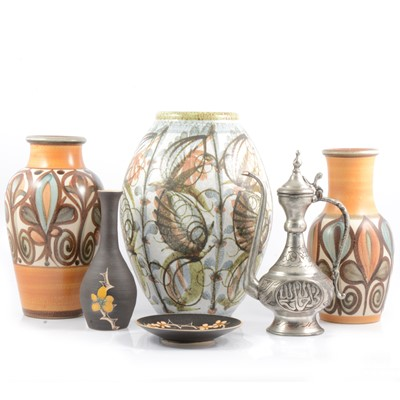 Lot 4 - Denby and Langley Glyn Colledge vases, plus other ceramics.