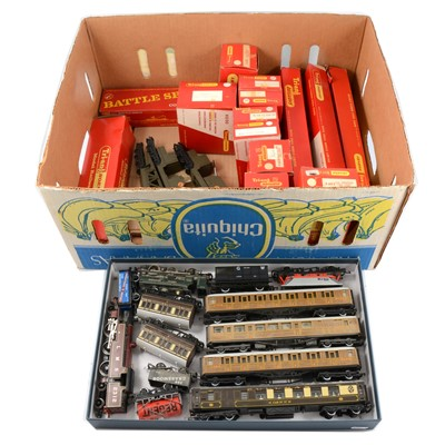 Lot 19 - Tri-ang and Hornby OO gauge model railway locomotives and rolling stock.