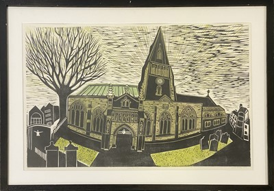 Lot 1114 - Sarah Kirby, Leicester Cathedral 2015