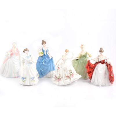 Lot 2 - Six Royal Doulton figurines.