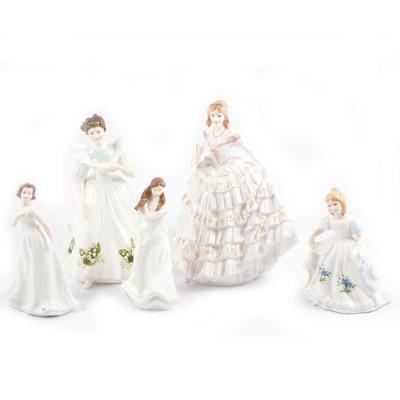 Lot 29 - Five assorted Royal Doulton and Royal Albert figurines.