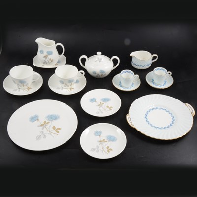 """Lot 39 - Minton """"Cheviot"""" part coffee set and Wedgwood """"Ice Rose"""" part dinner service."""
