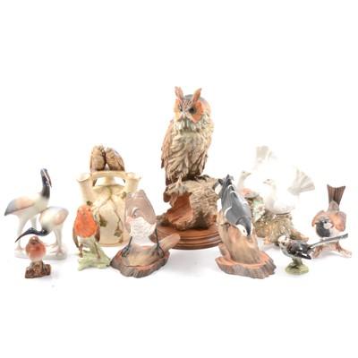 Lot 41 - Bird figurines, to include Beswick and Goebel.