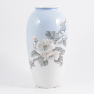 Lot 44 - Royal Copenhagen vase, with floral design.