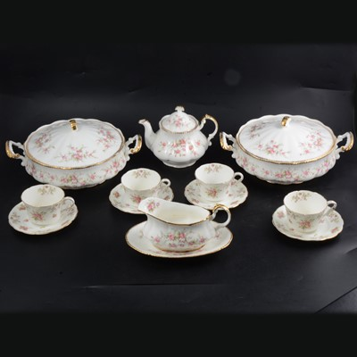 Lot 29 - Paragon 'Victoriana Rose' china part dinner service, and Jackson & Gosling part teaset.