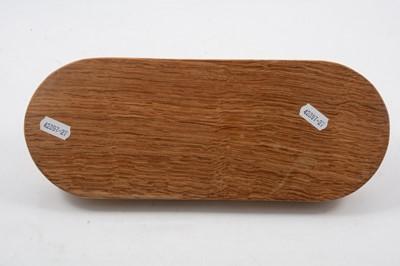Lot 1028 - Robert 'Mouseman' Thompson of Kilburn, an oak pen tray