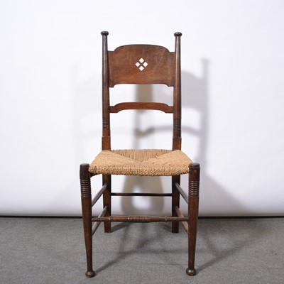 Lot 1003 - Arts & Crafts oak chair, probably William Birch of High Wycombe