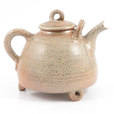 Lot 7 - A studio pottery stoneware teapot by Michael Casson