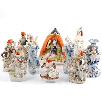 Lot 15 - Collection of Staffordshire figures, etc