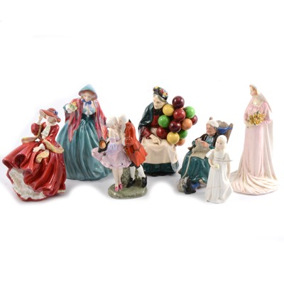 Lot 10 - Seven Doulton figures, including 'The Perfect Pair' HN412.