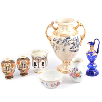 Lot 34 - Box of miscellaneous china and a rose bowl.