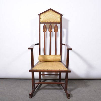 Lot 1004 - English Arts and Crafts armchair, in the manner of Shapland and Petter