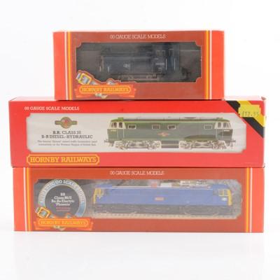 Lot 38 - Three Hornby OO gauge model railway diesel locomotives, R874, R074, R360.