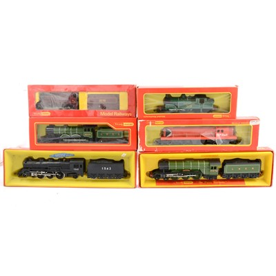 Lot 44 - Six Tri-ang Hornby OO gauge model railway locomotives